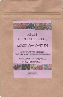 rich farm garden chili pepper seed collection