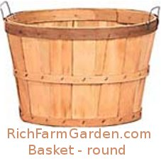 Plain Bushel Fruit and Vegetable Basket